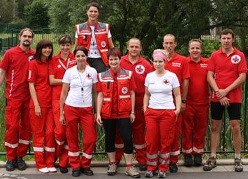 Gruppenfoto des DRK-Ortsvereins Niederschmalkalden in Thüringen